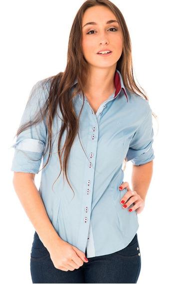 Camisa Social Feminina Detalhes Punho E Gola Moda Evangélica