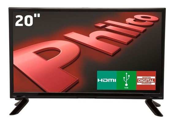 Tv Led 20 Polegadas Philco Hd Digital 1 Hdmi 1 Usb 60hz