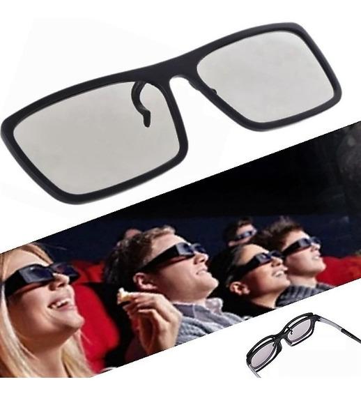 Lente 3d Cinema Clip-on Sobrepor Oculos De Grau Tv Passivas