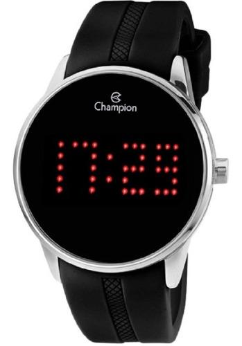 Relógio Champion Masculino Pulseira Borracha Ch40277t Escrev