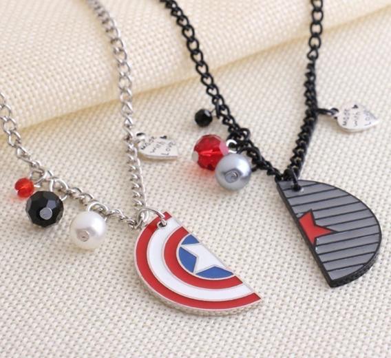 Collar Escudo Capitán América & Soldado Del Invierno