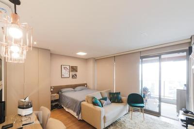 Studio No 20º Andar Mobiliado Com 1 Dormitório E 1 Garagem - Id: 892907683 - 207683