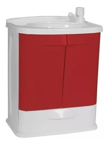 Gabinete Plástico Banheiro Gab Fit Branco / Vermelho Astra