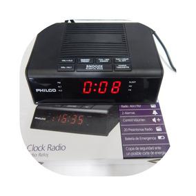 Radio Reloj Despertador 12/24 Hrs Pantalla Cr120 Led Alarma