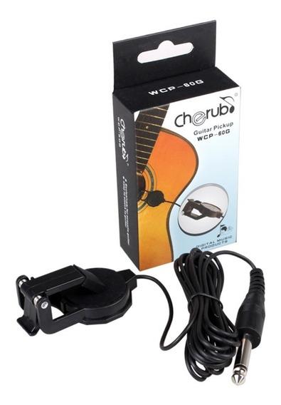 Kit Ligar Violão No Computador Guitar Link Captador Cordas