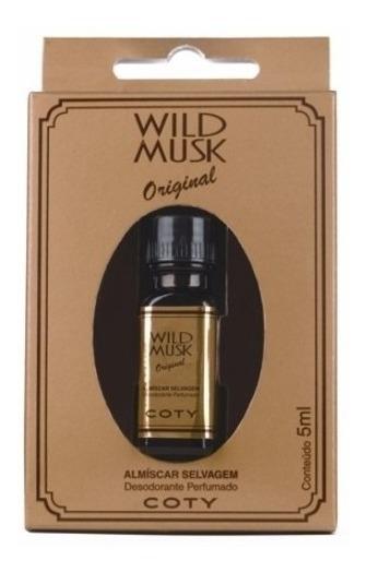Almíscar Selvagem Wild Musk Óleo Perfumado 5 Ml Kit C/12 Pçs