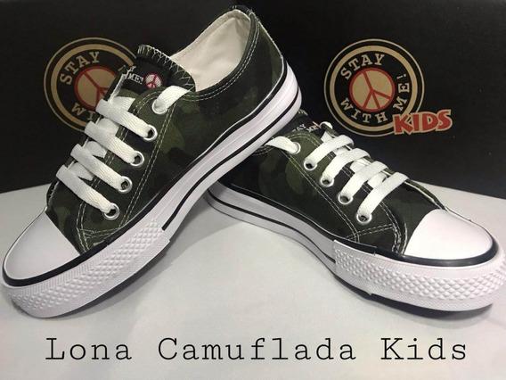Zapatillas Stay With Me! Lona Camuflada, Base Baja