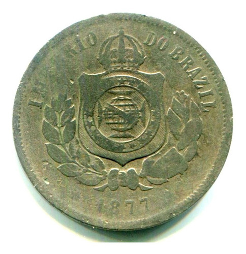 Imagem 1 de 5 de Moedas Brasil Império - 200 Réis - Cuproníquel - 1877 Bc L31