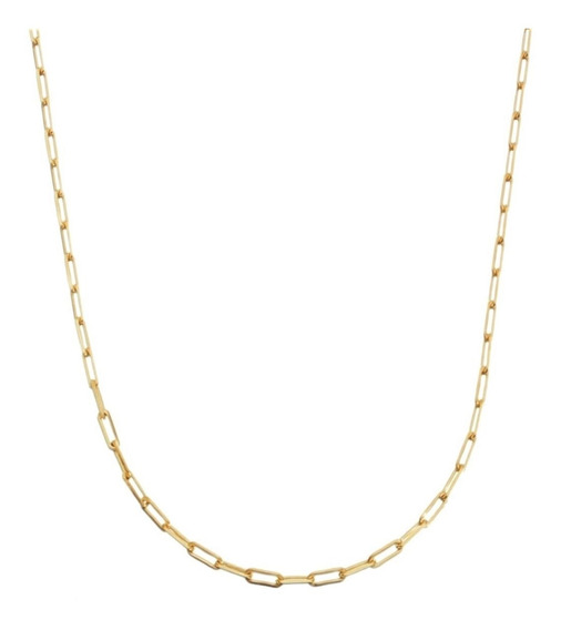 Corrente Cordão Masculina Cordão 80cm 2mm Banhada Á Ouro