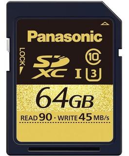 Tarjeta De Memoria Sdxc Panasonic 64gb Gold Series Uhs-i (u3