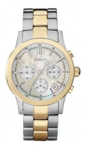 Relógio Dkny Feminino Gold & Silver Chronograph Modelo Ny8061
