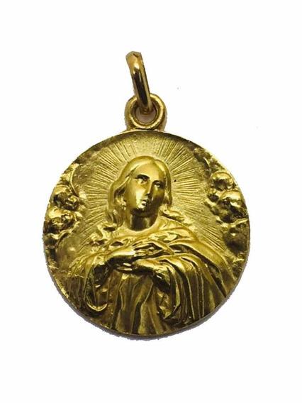 Medalla Oro 10k Purísima De Murillo #328 Bautizó Comunión
