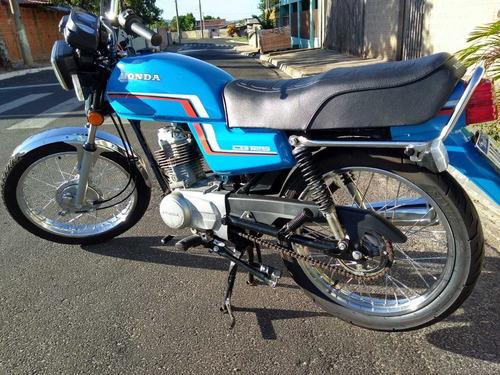 Honda  Cg 125 1984  Azul- Colecionador