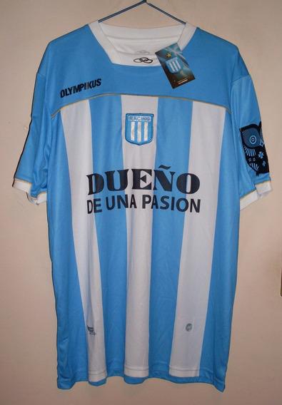 Camiseta De Racing Marca Olympikus En Hombro, Talle L