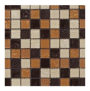 1pza X Malla Mosaico Decorativo P/muro 30x30cm Mod. Volcan