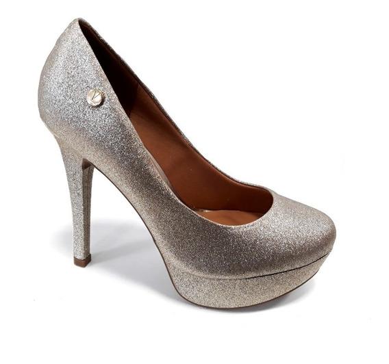 Zapato Mujer Vizzano Plataforma Taco 12cm Cerrado Gliter