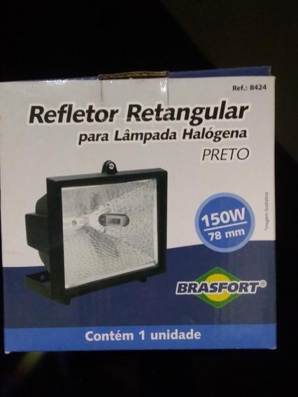 Kit 5 Refletor Ret. Brasfort 150w Bivolt P/ Lâmpada Halógena
