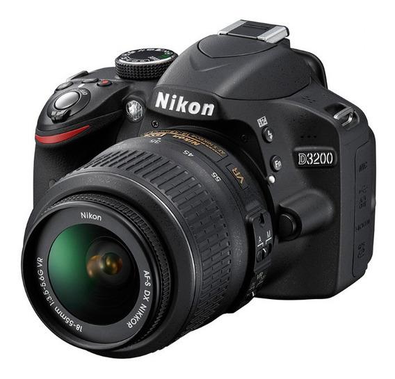 Camera Dslr Nikon D-3200 + Memoria + Case