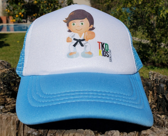 Gorra Taekwondo Kids Celeste Okio