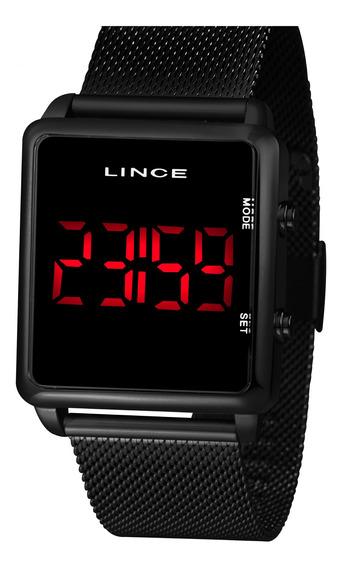 Relógio Lince Mdn4596l Pxpx Digital Preto Led Vermelho