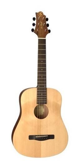 Guitarra Acustica Samick Mini Traveller De Viaje Open Pore