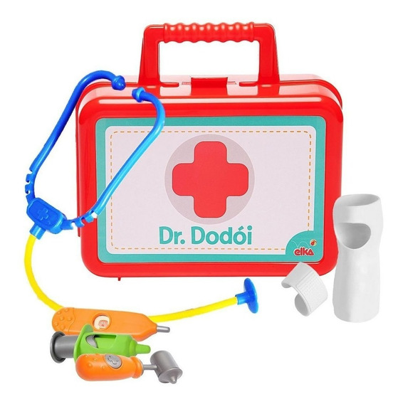 Maleta Completa Acessórios Médico Maletinha Doutora Dodói