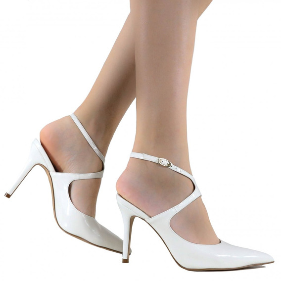 Sapato Feminino De Noivas Zariff Shoes Salto Alto 1041022