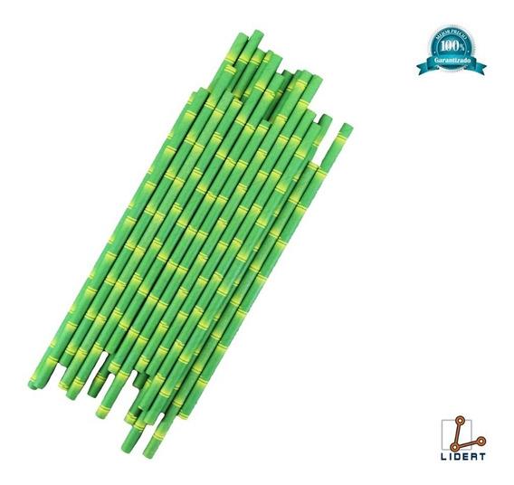 Popote Biodegradable Papel 25 Piezas Ecologicos Pp25