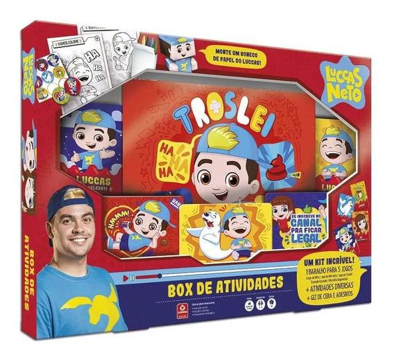 Box De Atividades Luccas Neto - Grátis Card Pokémon