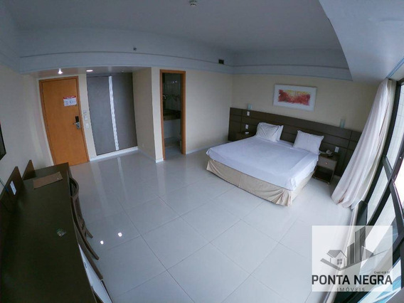 Flat Com 1 Dormitório Para Alugar, 32 M² Por R$ 2.500,00/mês - Ponta Negra - Manaus/am - Fl0006