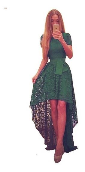 Elegante Vestido De Encaje.