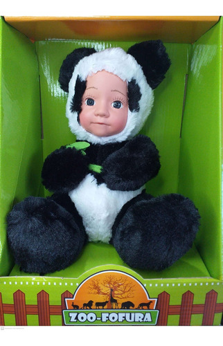 Boneco De Pelucia Urso Panda Bichinho Zoo Fofura  Fênix 3344