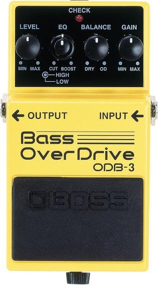 Pedal Boss Obd3 P/ Baixo Overdrive Novo + Nf E Garantia!