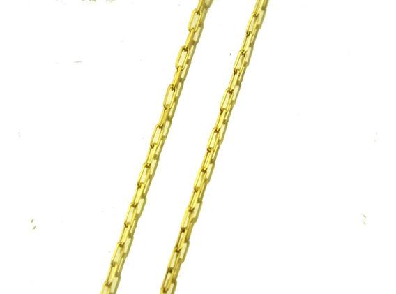 Promoção Corrente Masculina 60cm Fina De Ouro 18k J21090