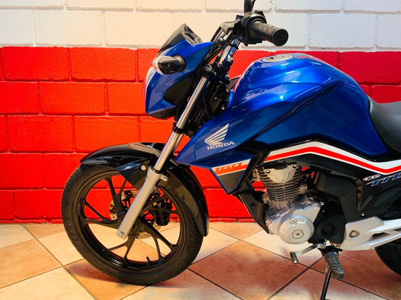 Honda Cg 160 Titan Ex - 2019 - Azul - Financiamos - Km 800