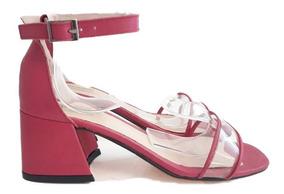 Sandalia Zapato Mujer Cuero Vacuno Acrilico