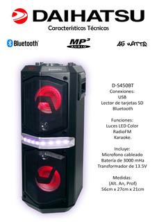Parlante Portatil Bluetooth Daihatsu D-s450 Impacto Online