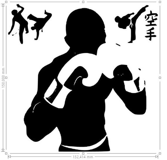 Adesivo Decorativo Artes Marciais Box Luta Bruce Lee Chanli
