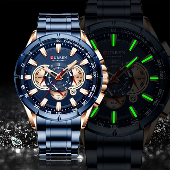 Relógio Masculino Esportivo Cronografico Original Curren