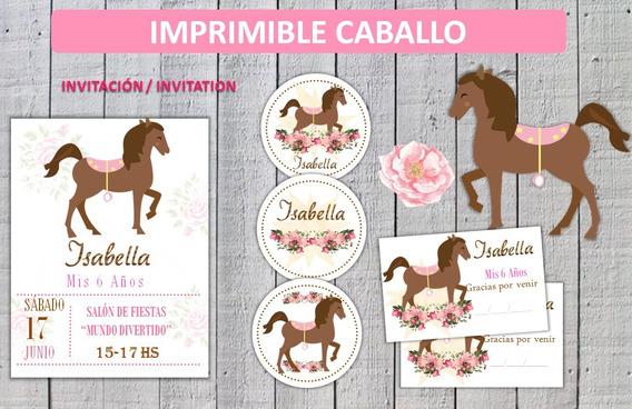 Kit Imprimible Caballito, Campestre