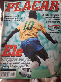 Revista Placar Pelé Nº 1149 Março 1999