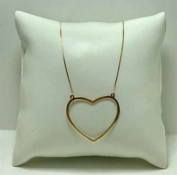 Colar Em Ouro 18k, Coração
