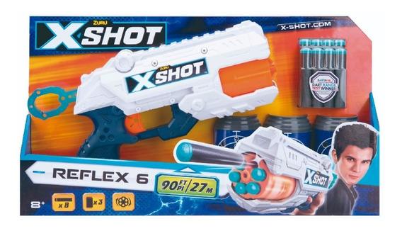 Arma Pistola Xshot Reflex 6 Con Cargador Para 6 Dardos 36116