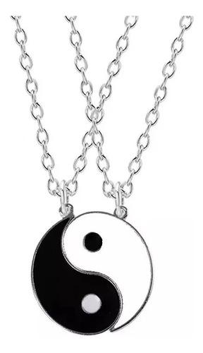 Imagen 1 de 3 de Collares De Pareja Yin Yang Amor Mejores Amigos San Valentín