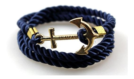 Pulseira Masculina Marinheiro Azul Immanuel Corda Ancora