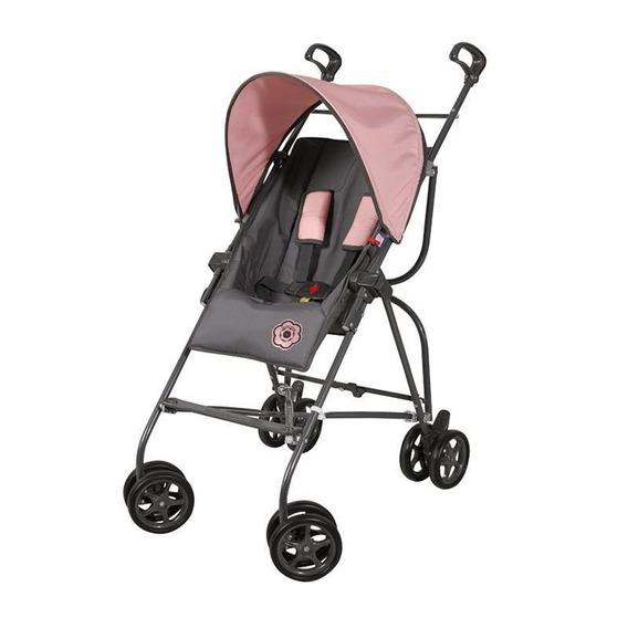 Carrinho De Bebê Capri Grafite/rosa - Galzerano