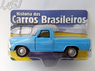 Miniatura Ford F100 Azul - Hist. Carros Brasileiros
