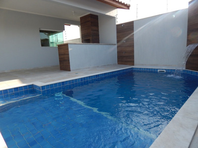 Casa Nova C/ Piscina A Venda No Bairro Flórida Em Peruíbe.