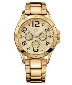 Relógio Luxo Tommy Hilfiger Th1781172 Orig Chron Anal Gold