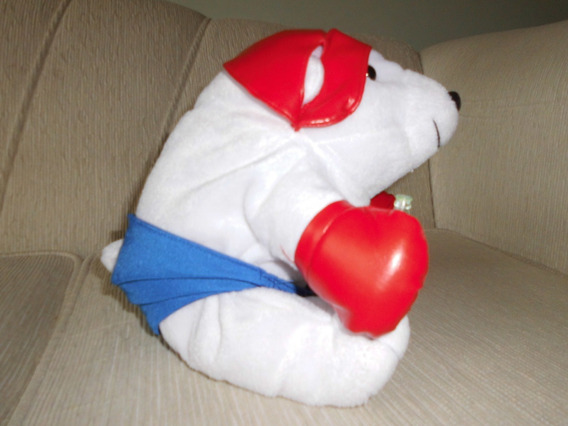 Urso Pelúcia Olimpiadas Coca Cola (boxe)